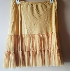 Anthropologie Eloise Yellow Miniskirt or Slip
